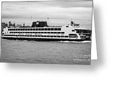 staten island ferry Andrew J Barberi new york usa Greeting Card