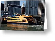 Staten Island Ferry Greeting Card