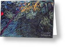 States Of Mind    Those Who Go Greeting Card by Umberto Boccioni