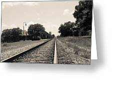 Station In The Distance Greeting Card