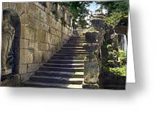 Statue And Stairs Greeting Card