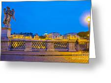Statue And Street Lamp Greeting Card
