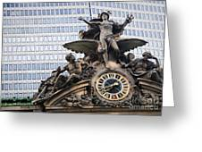 Statue At Grand Central Station Greeting Card