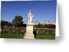 Statue At The Jardin Des Tuileries In Paris France Greeting Card
