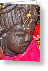 Statue At The Vishwanath Temple - India Greeting Card