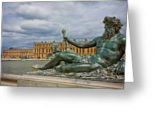 Statue In Front Of Versailles Greeting Card