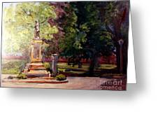 Statue In  Landscape Greeting Card