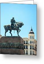 Statue In Montevideo Uruguay Greeting Card