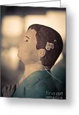 Statue Of A Boy Praying Greeting Card
