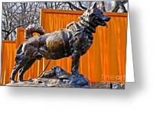 Statue Of Balto In Nyc Central Park Greeting Card