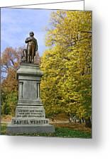Statue Of Daniel Webster - Central Park Greeting Card