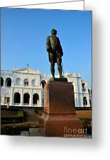 Statue Of Gregory Outside National Museum Colombo Sri Lanka Greeting Card