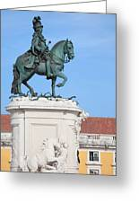 Statue Of King Jose I In Lisbon Greeting Card