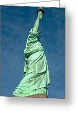 Statue Of Liberty Hdr Greeting Card
