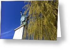 statue of liberty in Paris Greeting Card