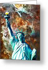 Statue Of Liberty - She Stands Greeting Card