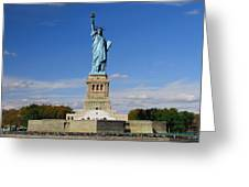 Statue Of Liberty Tourism Greeting Card