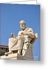 Statue Of Plato Greeting Card
