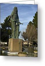 Statue Of Saint Clare Santa Clara Calfiornia Greeting Card