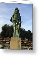 Statue Of Saint Clare Santa Clara California Greeting Card
