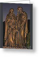 Statue Of The Holy Family  Greeting Card