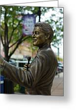 Statue Of Us President Bill Clinton Greeting Card