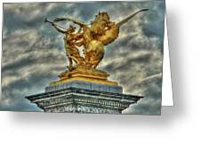 Statue On Pont Alexandre IIi Greeting Card