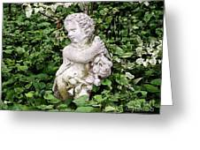 Statue Watercolor Effect Greeting Card