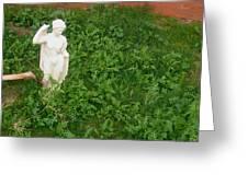 Statue Weeds Restaurant Toltec Tavern Toltec Arizona 2005 Greeting Card