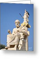 Statues Of Plato And Athena Greeting Card