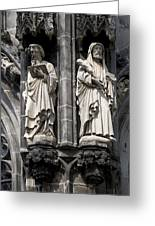 Statues Of The Aachen Cathedral Germany Greeting Card