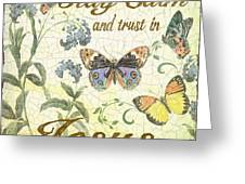 Stay Calm-trust In Jesus-2 Greeting Card