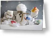 Stay Puff Snowman Greeting Card