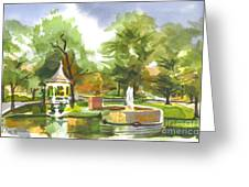 Ste. Marie Du Lac In Watercolor Greeting Card