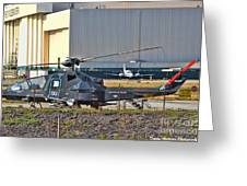 Stealth Air Attack Helicopter Greeting Card