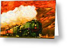 Steam And Sandstone Greeting Card