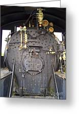 Steam Engine 444 Fire Box And The Controls Greeting Card