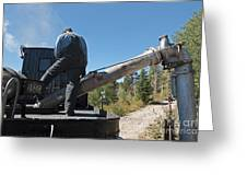 Steam Engine 489 At The Watering At Sublette Station On The Cumbres And Toltec Rr Greeting Card
