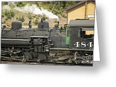 Steam Engine At Cumbres Pass Greeting Card