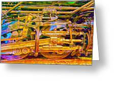 Steam Engine Linkage 3 Greeting Card