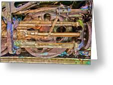 Steam Engine Linkage Greeting Card