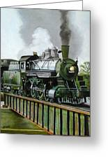 Steam Engine Locomotive Greeting Card