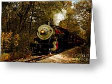 Steam Engine No. 300 Greeting Card by Robert Frederick