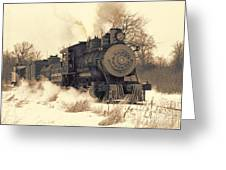 Steam Engine Number Two Greeting Card