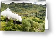 Steam Engine On Glenfinnan Viaduct Greeting Card
