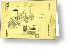 Steam Engine Patent 1869 Greeting Card