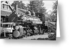 Steam Engine Train Greeting Card by Donald Torgerson