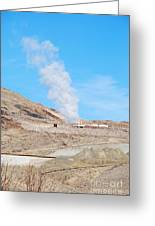 Steam From Earth Greeting Card
