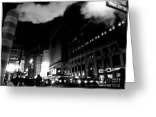 Steam Heat - New York At Night Greeting Card