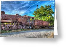 Steam Locomotive No 1151 Norfolk And Western Class M2c Greeting Card
